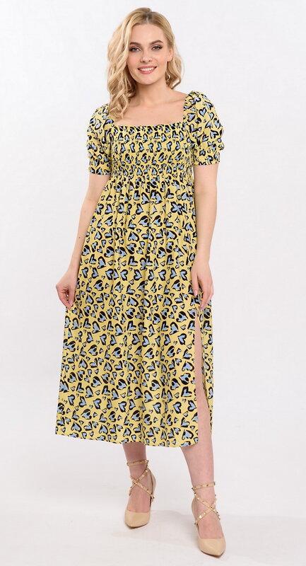 RISE Платье Желтый, черный