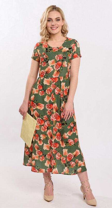 RISE Платье Зеленый, розовый