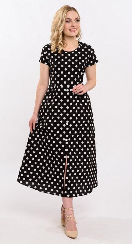 RISE Платье Черный, белый