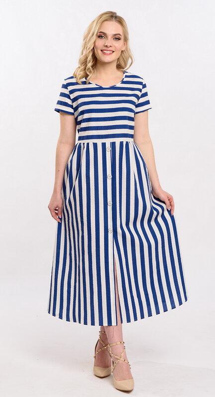 RISE Платье Белый, голубой
