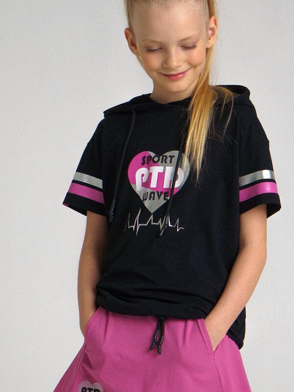 PLAYTODAY Футболка черный, розовый, серебристый
