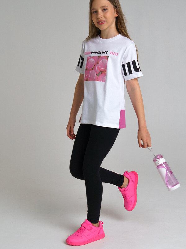PLAYTODAY Футболка белый, розовый, серебристый, черный