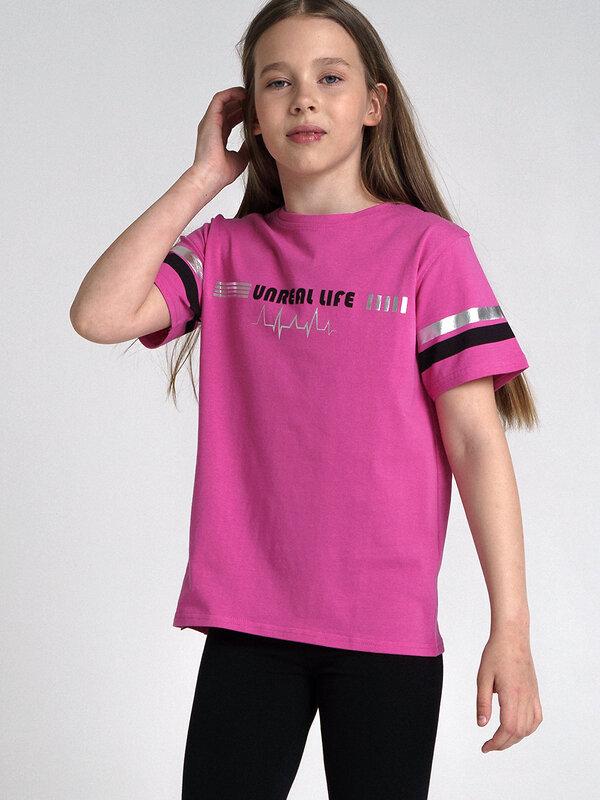 PLAYTODAY Футболка розовый, черный, серебристый