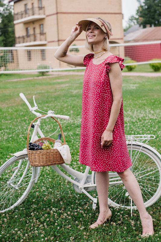 Неженка Платье Красный