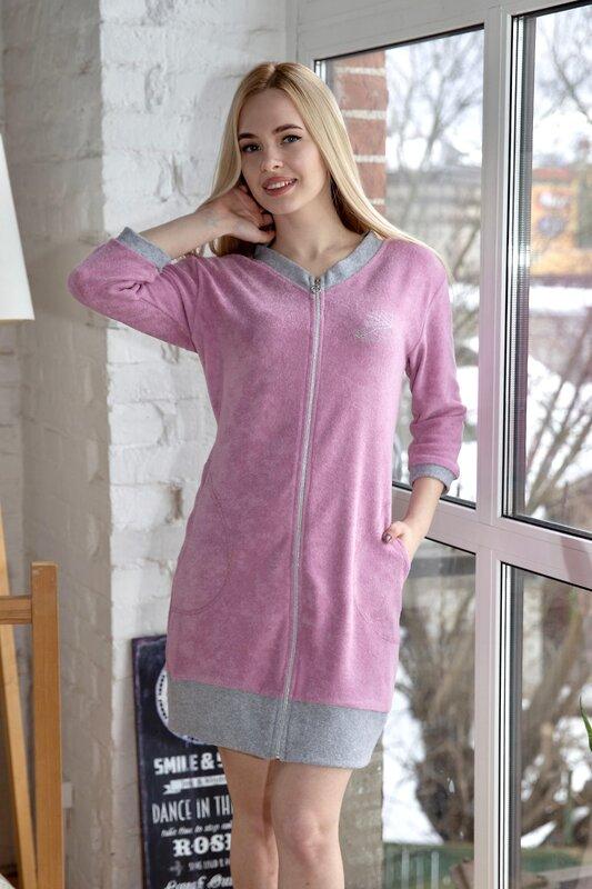 Lika Dress Халат Розовый