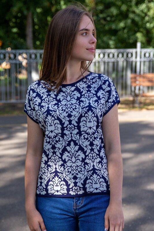 Lika Dress Джемпер Синий/Рисунок