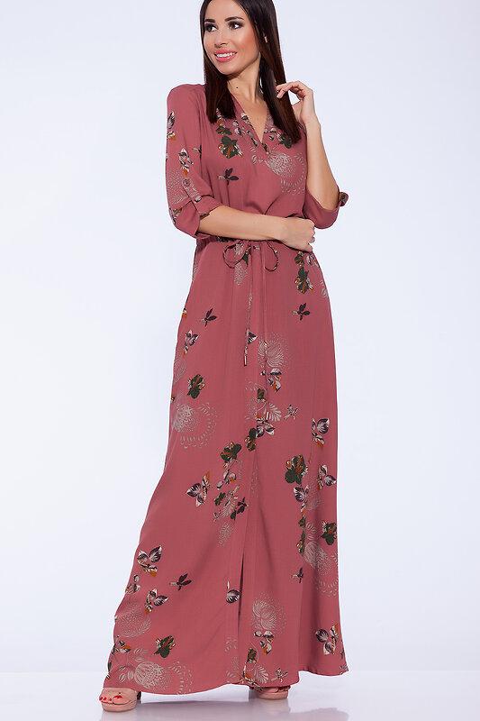 акция -52% до 30августа ARGENT Платье Сухая роза