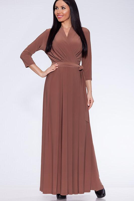 акция -15% до 30августа ARGENT Платье Светло-коричневый