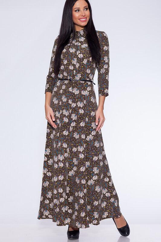 акция -58% до 30августа ARGENT Платье Зеленый/цветы