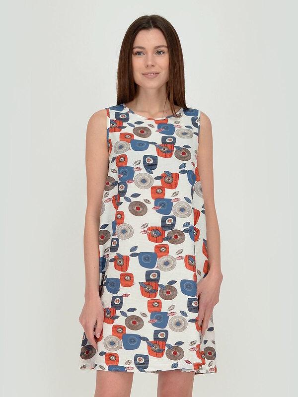 VISERDI Платье бело-голубой