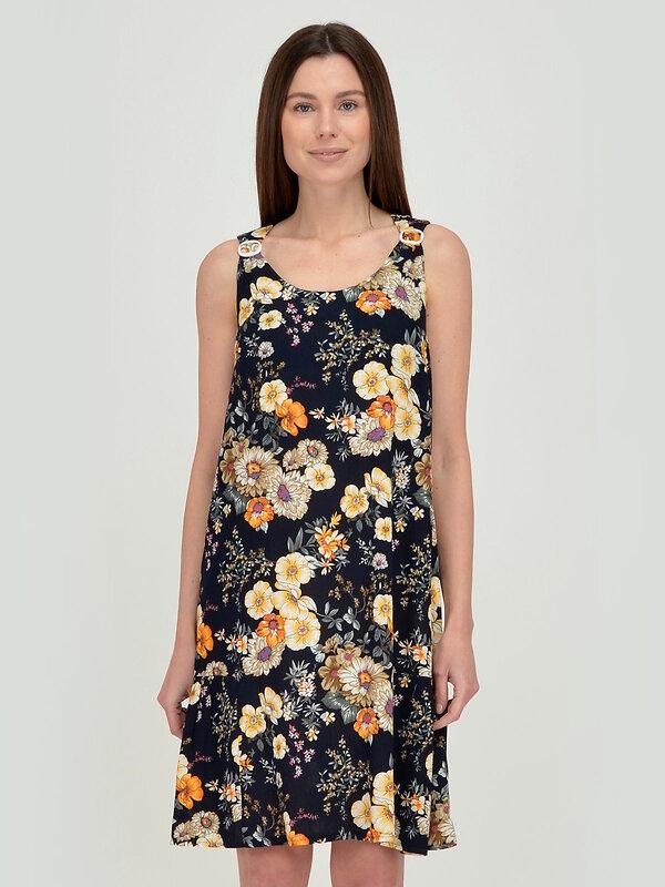 VISERDI Платье Черно-оранжевый