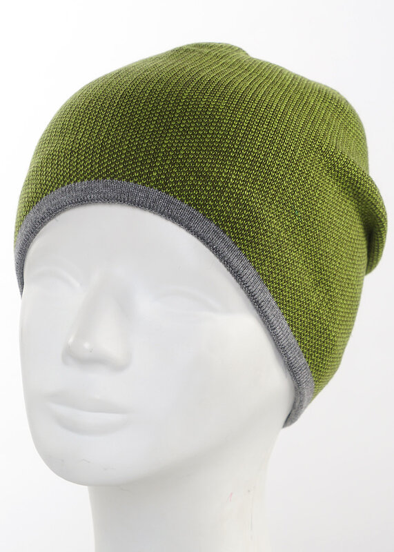 CLEVER Шапка зелёный/меланж серый