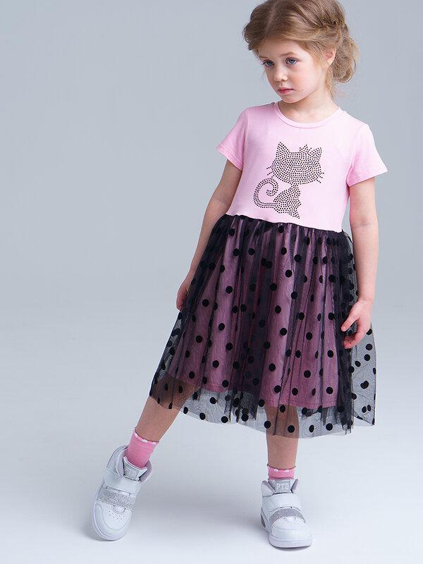 PLAYTODAY -10% до 24апреля  Платье черный, розовый