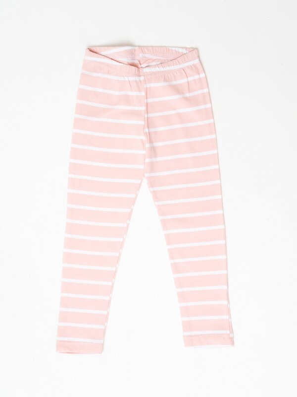 Binita Легинсы бело-розовый