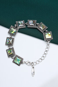 FASHION JEWELRY Браслет 123909 FJ-43 Изумруд