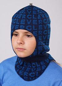 CLEVER Шапка 135075 703032ак т.синий/т.голубой