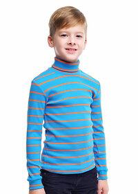 CLEVER Джемпер 137511 900308шн 52-64 синий/оранжевый
