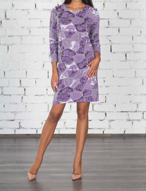 #99400 Платье коричневый