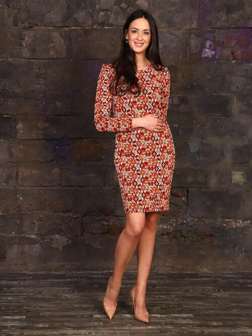#99401 Платье коричневый
