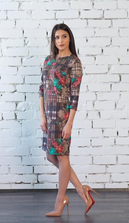 #99402 Платье бежевый