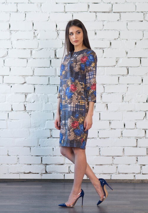 #99403 Платье синий