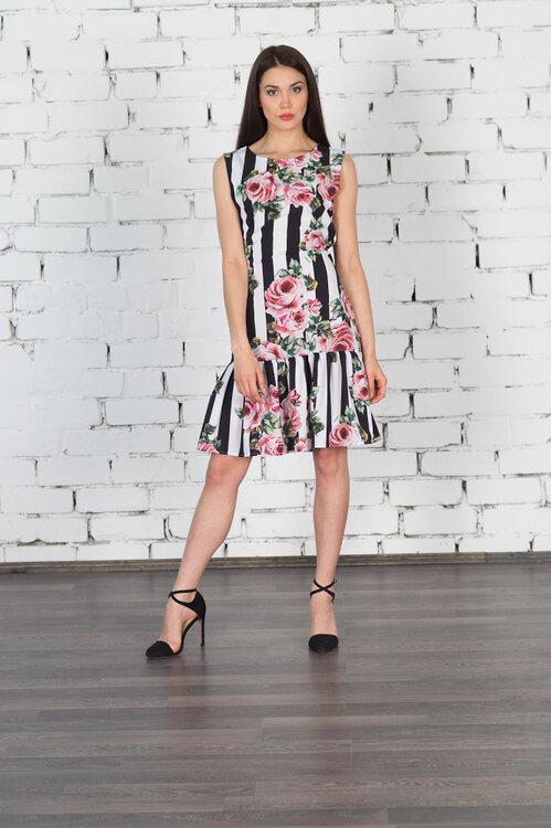#99408 Платье цветы
