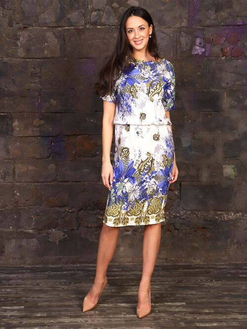 #99412 Платье синий
