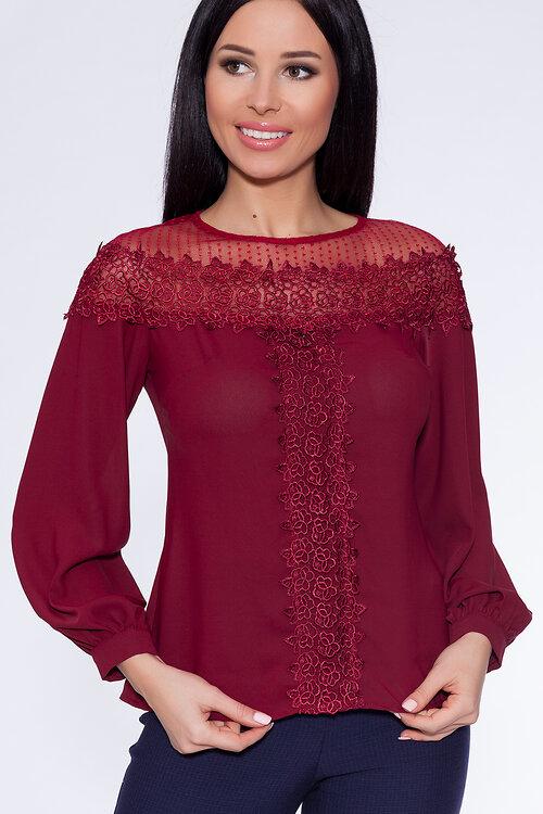 Блузка бордового цвета купить