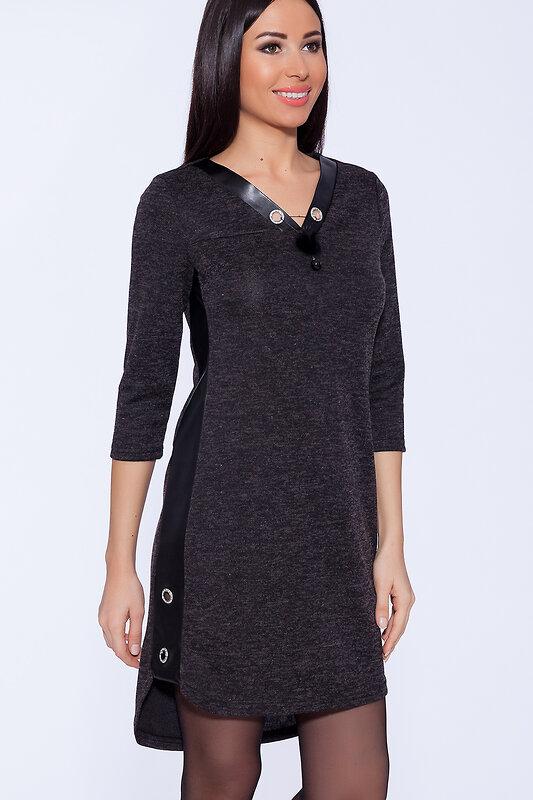 OleGra Платье 50451 18734 Черный оптом от Engros