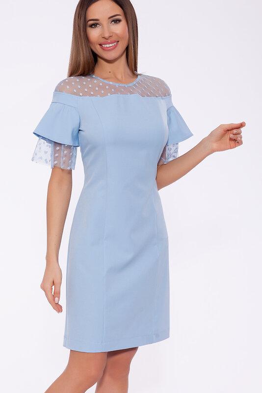 OleGra Платье 61858 19606 Голубой оптом от Engros