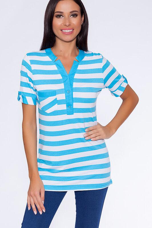 Binita Футболка 89742 167-2 Бело-голубой оптом от Engros