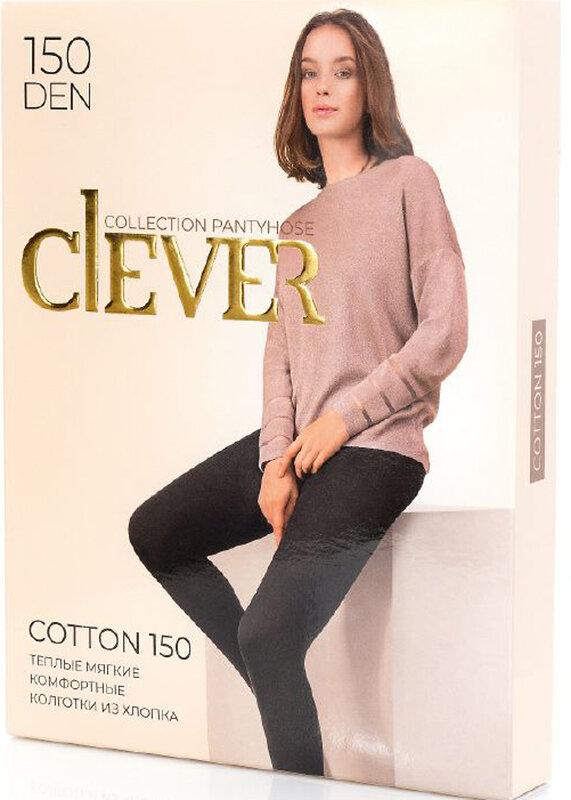 CLEVER Женские колготки 91332 COTTON 150 чёрный оптом от Engros