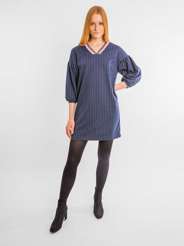 MARK FORMELLE Платье 104064 152323 полоска на синем оптом от Engros