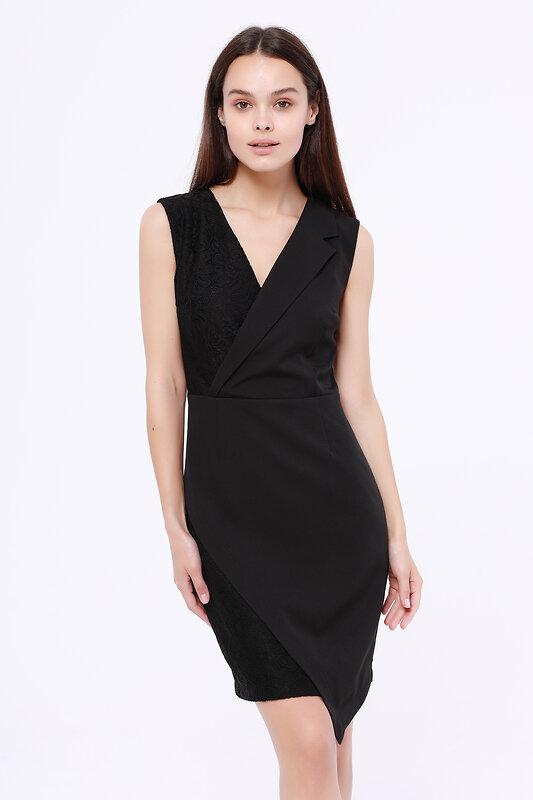 OleGra Платье 106786 20429 Черный оптом от Engros