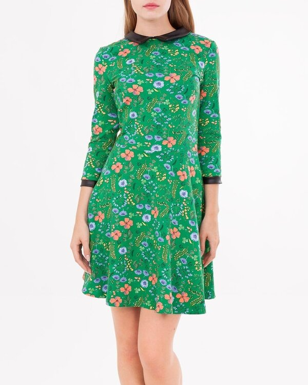 MARK FORMELLE Платье 109350 152263 зеленый в цветы оптом от Engros