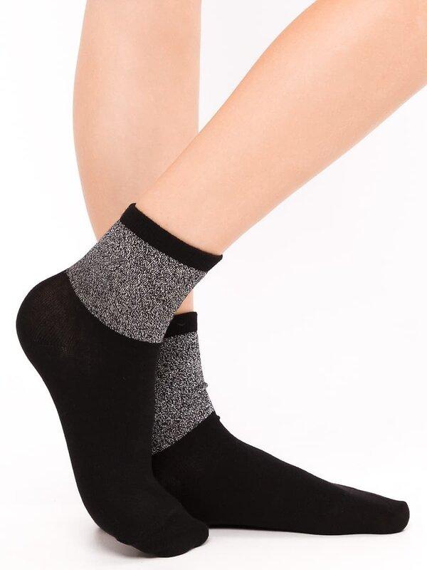 MARK FORMELLE Женские носки 115338 213K-481 черный +серебро оптом от Engros