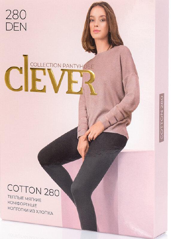 CLEVER Женские колготки 123570 COTTON 280 чёрный оптом от Engros