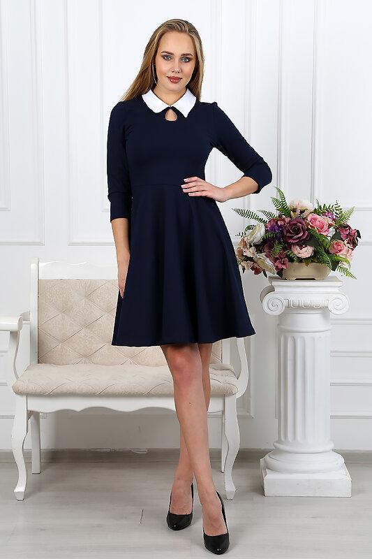 ОПТМОДА Платье 125762 П 027-3 Синий оптом от Engros