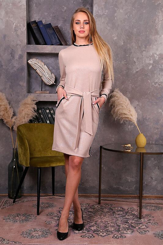 ОПТМОДА Платье 125765 П 244 Бежевый оптом от Engros