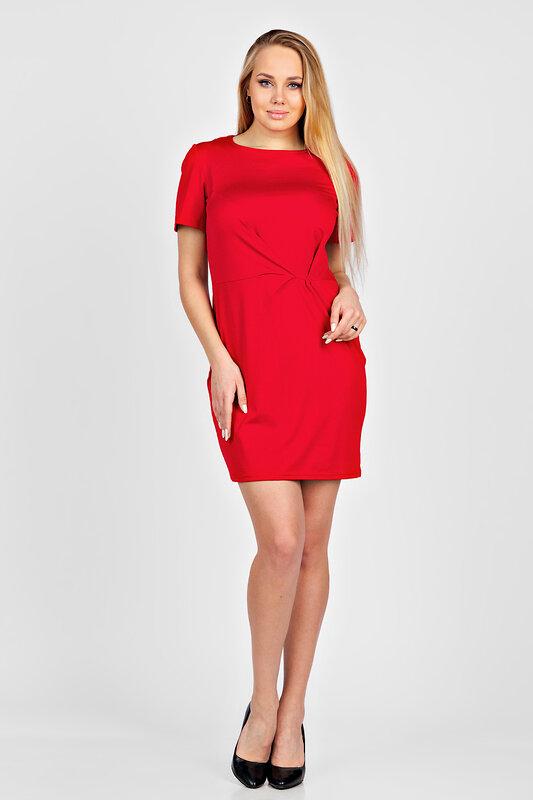 ОПТМОДА Платье 125869 П 253 Красный оптом от Engros