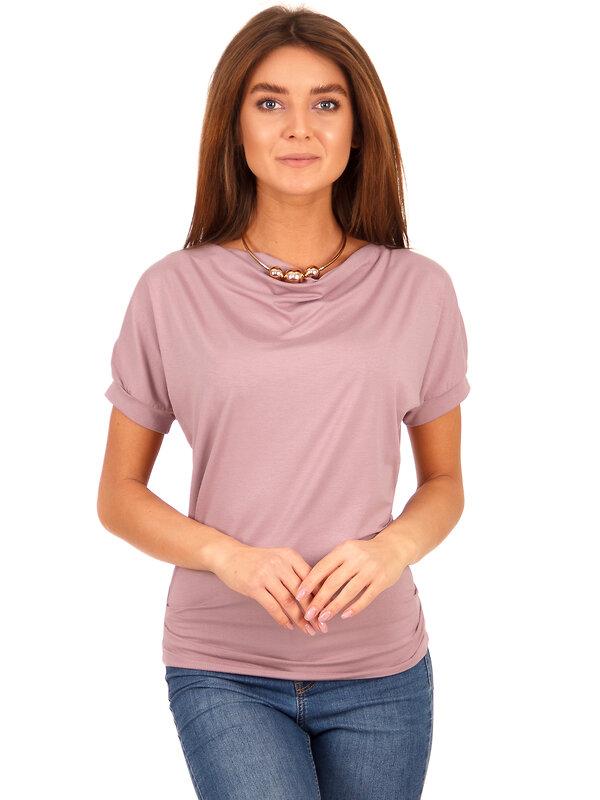 Апрель Блузка 132015 ЖДФК965820 темно-розовый оптом от Engros