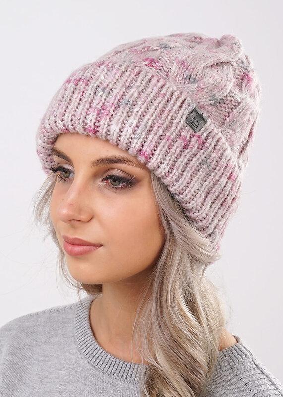 CLEVER Шапка 134978 102888шп св.розовый/т.сиреневый оптом от Engros