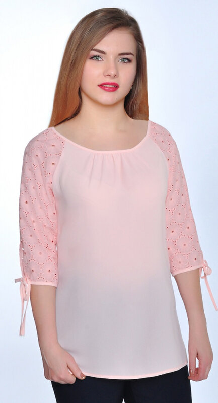RISE Блузка 136722 2284/01 Бледно-розовый оптом от Engros
