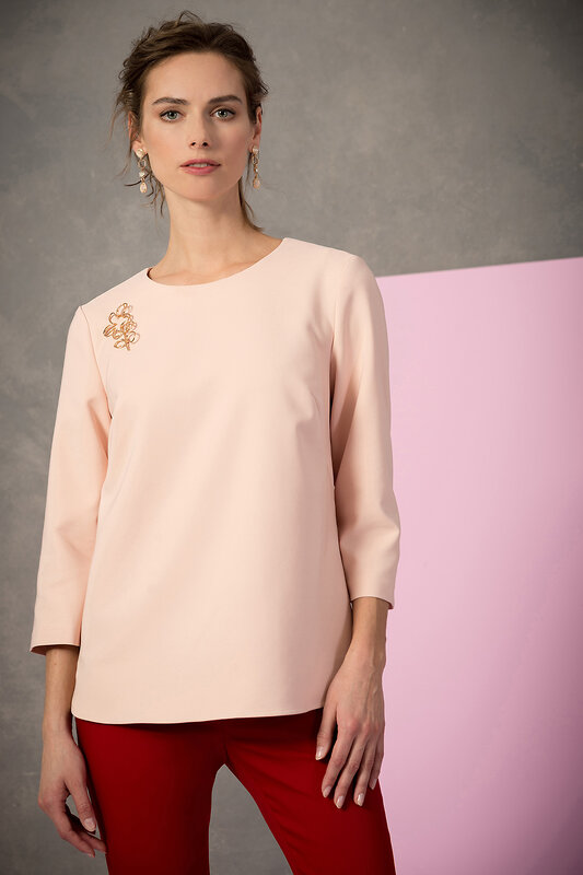 ANTIGA Блуза 136969 50.489.0887.061.4 бежево-розовый оптом от Engros