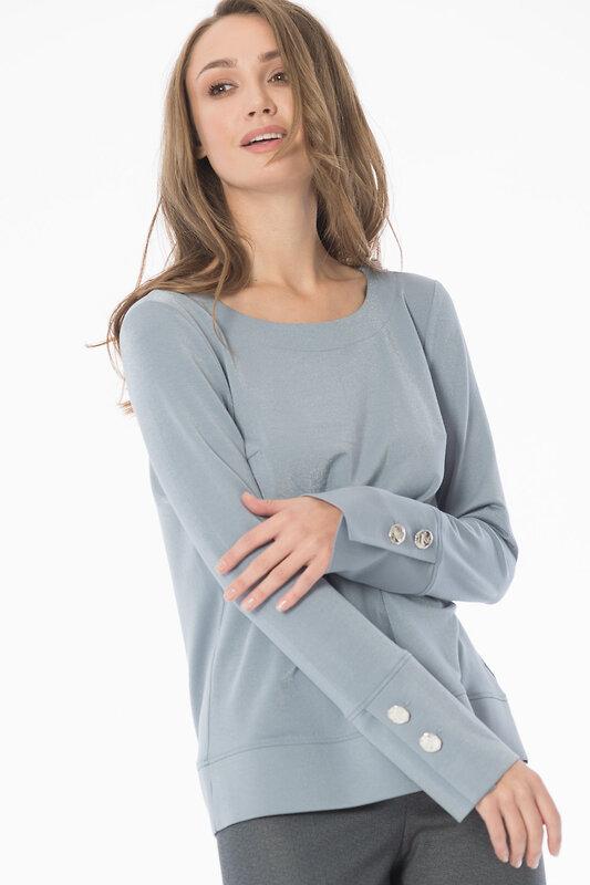 ANTIGA Блуза 136990 55.398.6710.705.1 серый оптом от Engros