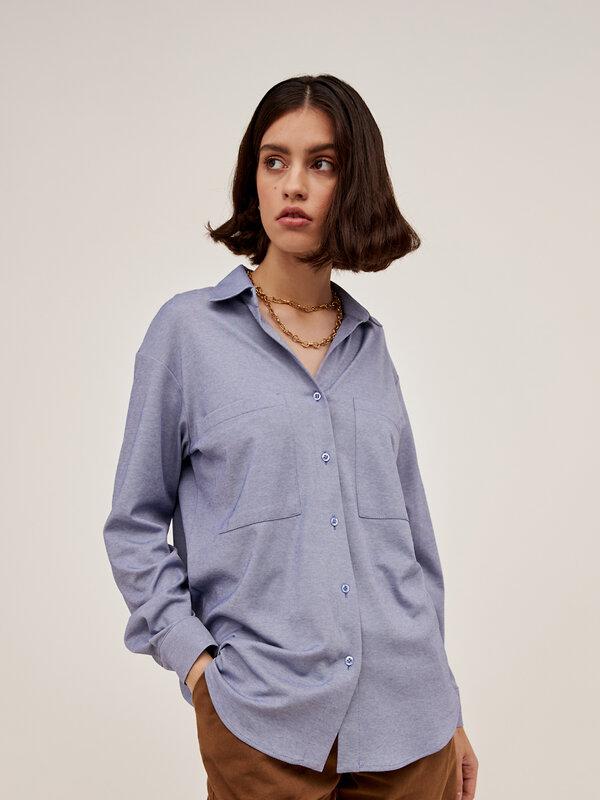 ANTIGA Блуза 137045 55.311.6726.330.1 дымчато-синий оптом от Engros