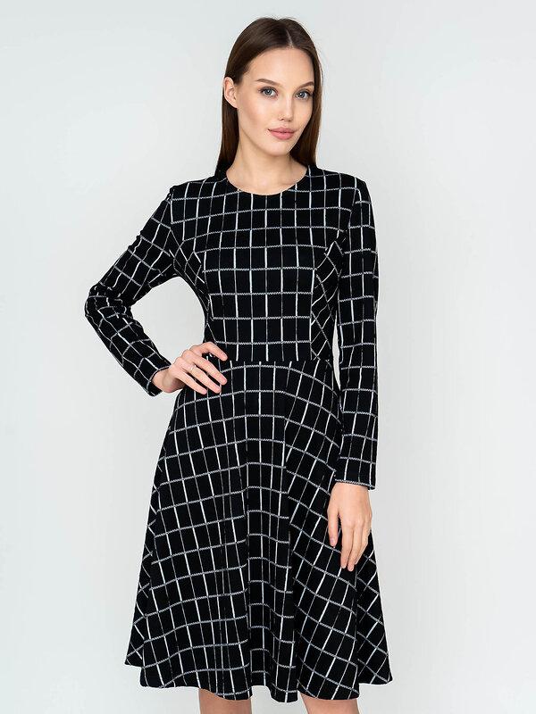 Binita Платье 140577 314-1 Черно-белый оптом от Engros