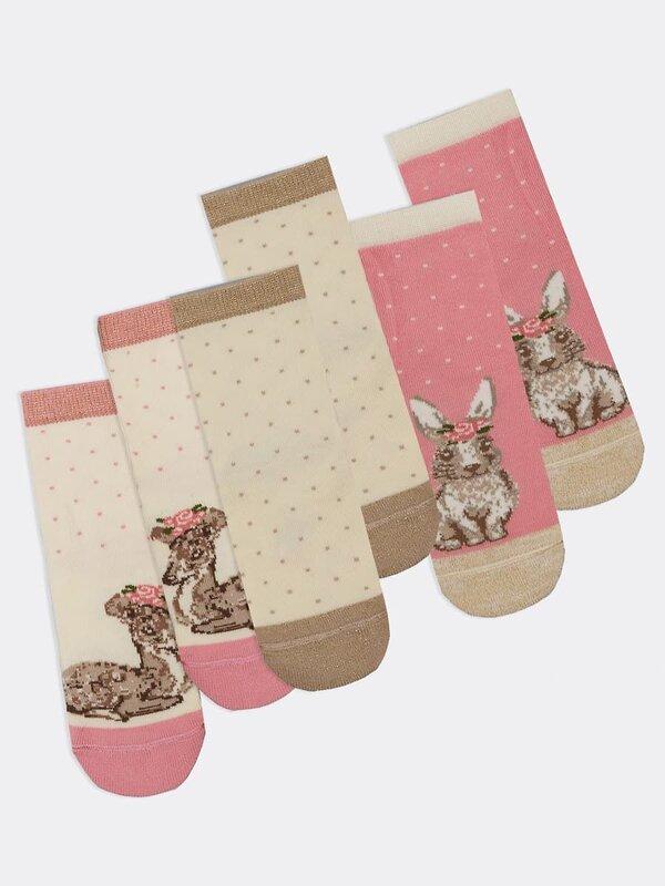 MARK FORMELLE Детские носки 153695 447A-1617 кремовый /пурпурный /кремовый оптом от Engros