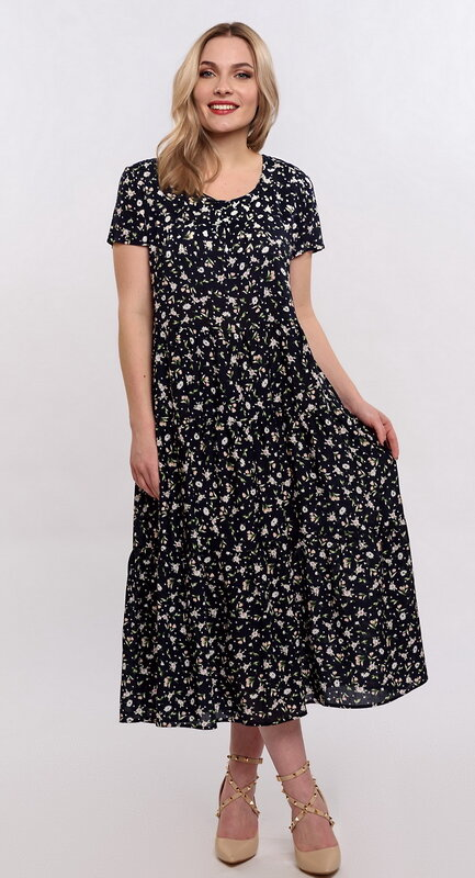 RISE Платье 154742 5827/40 Синий, белый оптом от Engros