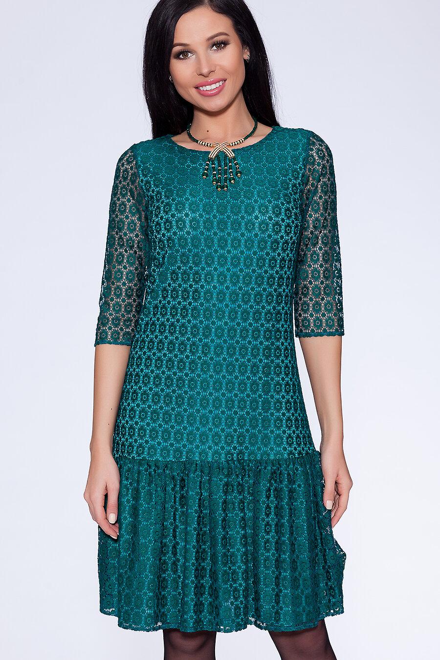 #11327 Платье Изумрудный